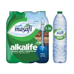 Masafi Alkalife Alkaline Water 1.5L x Pack of 6