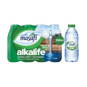 Masafi Alkalife Alkaline Water 330ml x Pack of 12