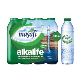 Masafi Alkalife Alkaline Water 500ml x Pack of 12