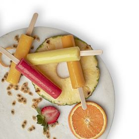 Assorted Ice pop (Orange, Strawberry Banana, Mango Passion Fruit, Beetroot Berry) 16PIECE