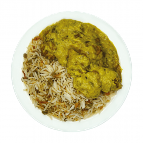 Chicken Afghani with Steamed Rice