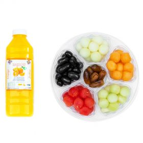 Fruit Marbles & Dates 865g & 1L Orange Juice