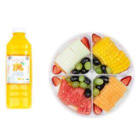 Fruit Slices with Strawberries with 1L Orange Juice