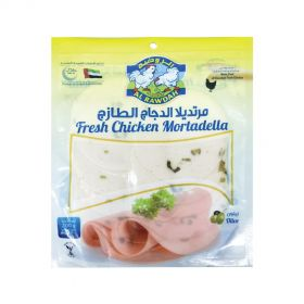 Al Rawdah Chicken Mortadella Green Olives Sliced 200g