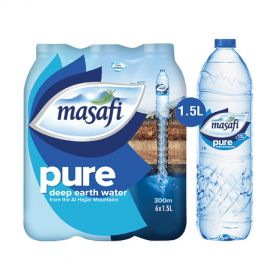 Masafi Pure Low Sodium Natural Water 1.5L x Pack of 6