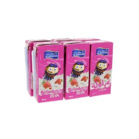 Al Rawabi Strawberry Milk Long Life 200mlx6