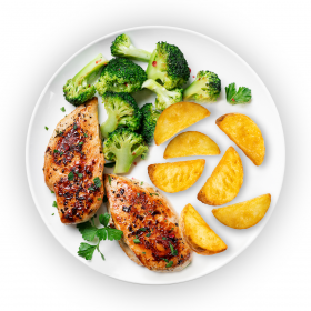 Char Grilled Cajun Chicken with Sauteed Vegetables