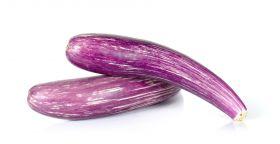 Eggplant Purple Stripped Long