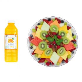 Fruit Platter Exotic & 1L Orange Juice