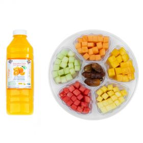 Fruit Sticks with Dates with 1L Orange Juice 1PIECE