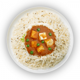 Vegetable & Paneer Makhani with Steamed Rice