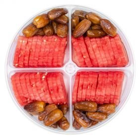 Watermelon Slices with Dates