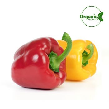 Capsicum Mix Organic (Red/Yellow) 2 Pieces