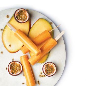 Mango Passion Fruit Ice Pops