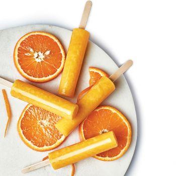 Orange Ice Pops